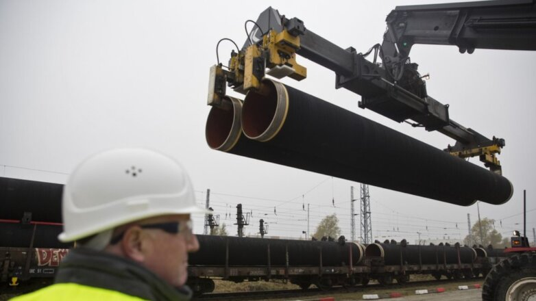 Северный поток-2 трубы газопровод транспортировка погрузка на поезд