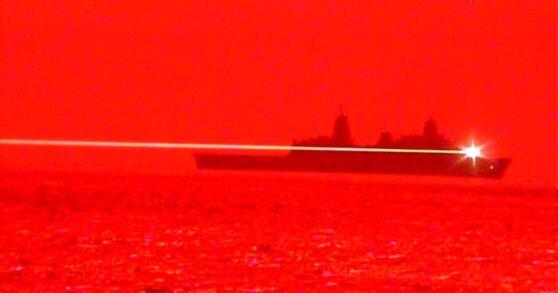 ВМС США опубликовали видео испытаний боевого лазера