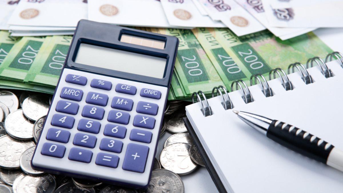 Деньги рубли калькулятор подсчёт финансы бюджет налоги два