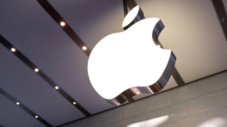 Apple логотип свет