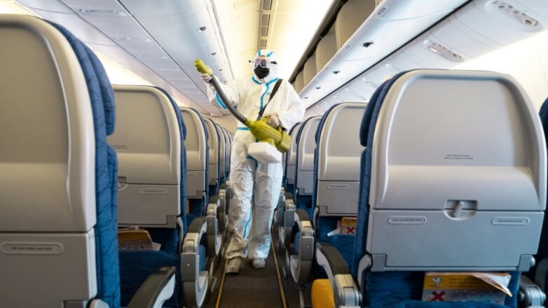 Салон самолёта коронавирус дезинфекция