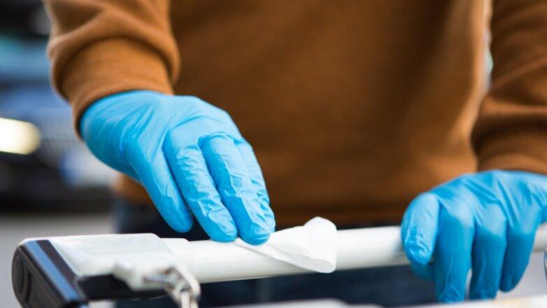 Коронавирус медицинские перчатки магазин тележка