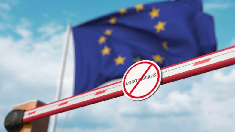 Коронавирус закрытая граница Европа Евросоюз флаг