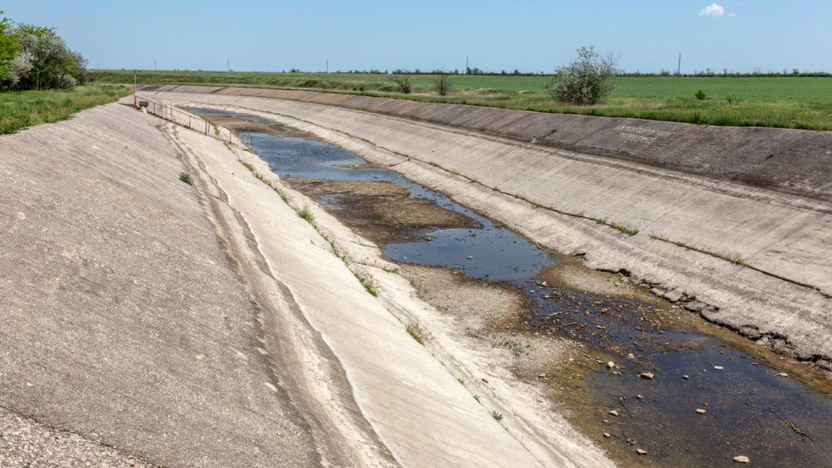 Северо-Крымский канал Крым перекрытый пересохший водная блокада два