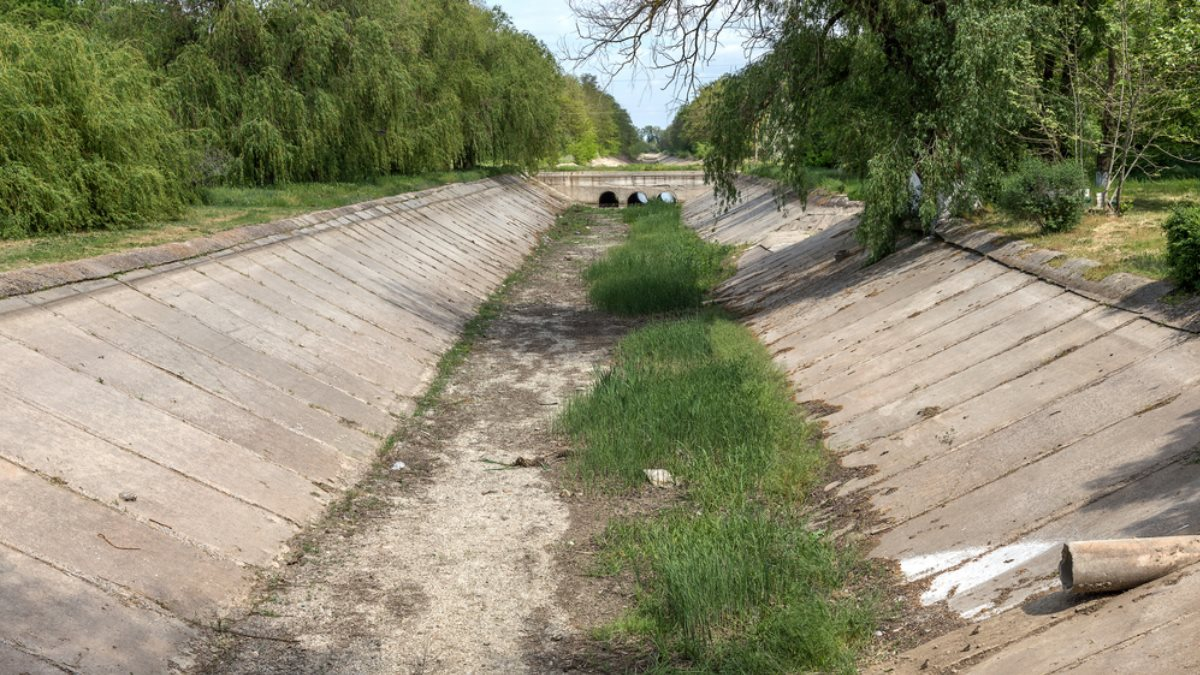 Северо-Крымский канал Крым перекрытый пересохший водная блокада один