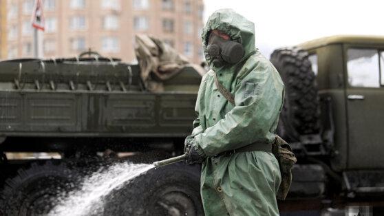 Военные проведут масштабную дезинфекцию в Москве к параду Победы