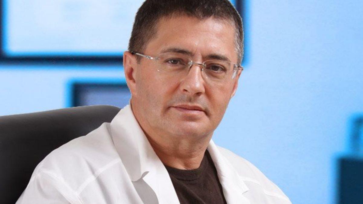 Доктор Александр Мясников синий фон