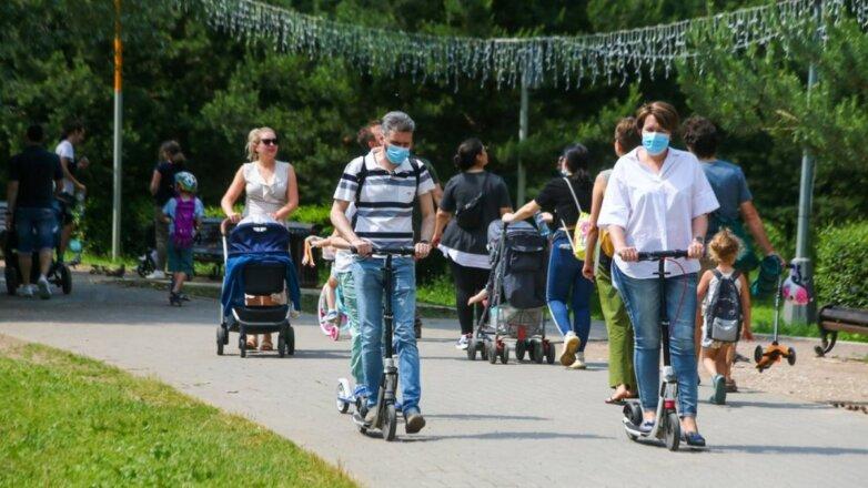 Погода тепло парк люди прогулка коронавирус