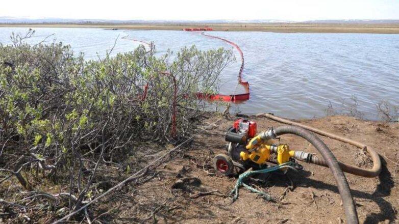 Ликвидация последствий разлива нефтепродуктов на ТЭЦ в Норильске