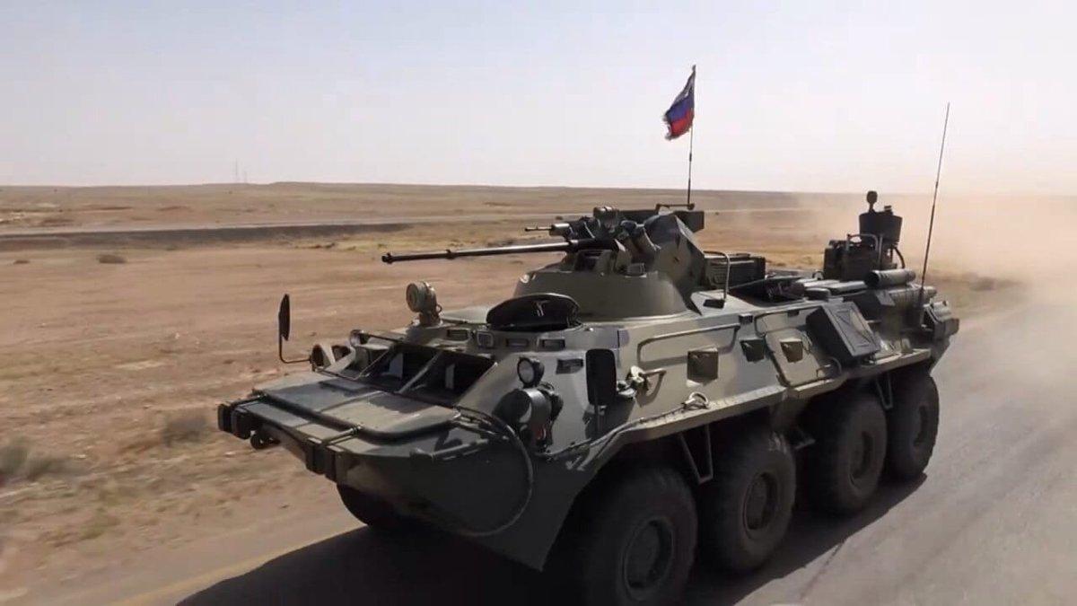 БТР российских военных едва не превратил американские броневики в груду ошмёток