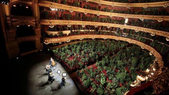 В Барселоне оперный театр открыл сезон концертом для растений