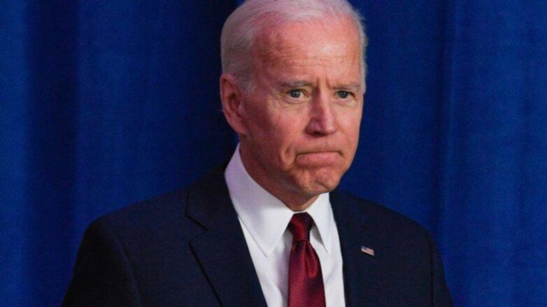 Джозеф Байден Джо - Joe Biden стиснул губы
