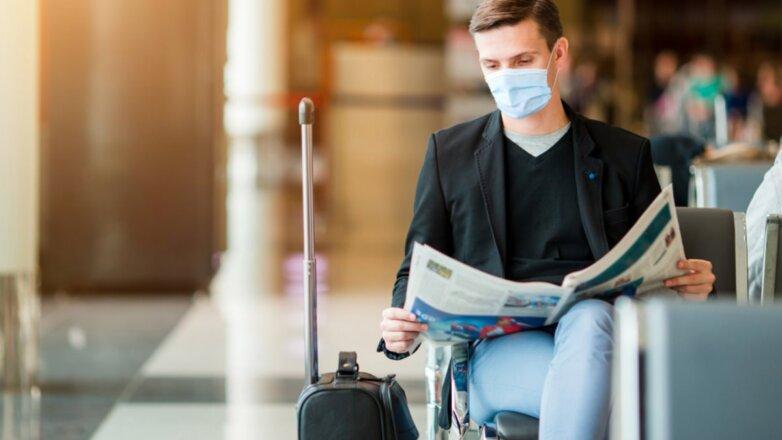 Аэропорт коронавирус медицинская маска терминал