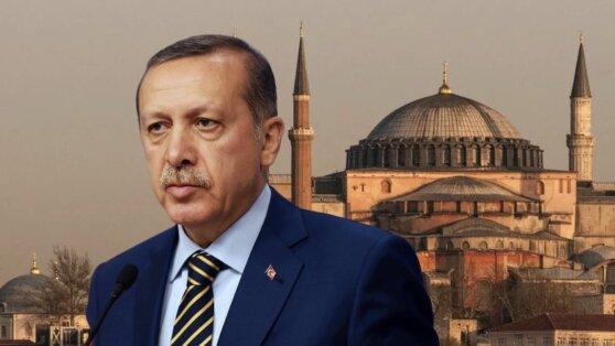 Эрдоган назвал исправлением ошибки изменение статуса собора Святой Софии
