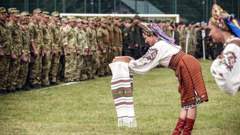 встреча военнослужащих НАТО на Украина