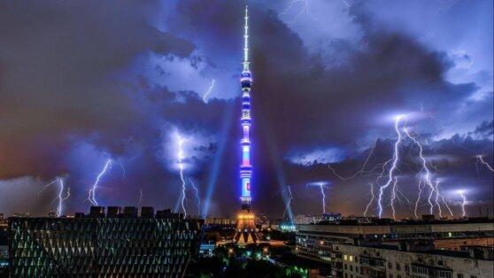В Москве объявлен «желтый» уровень погодной опасности из-за грозы и ветра