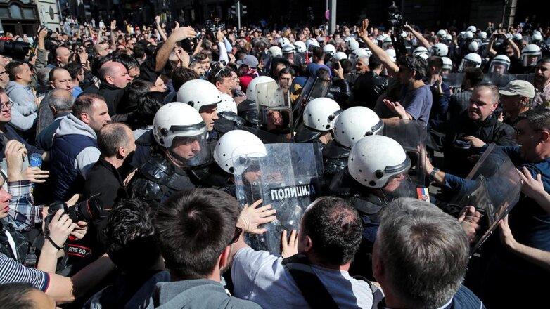 Протесты и беспорядки в Сербии