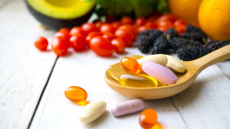 Витамины овощи фрукты таблетки добавки БАДы