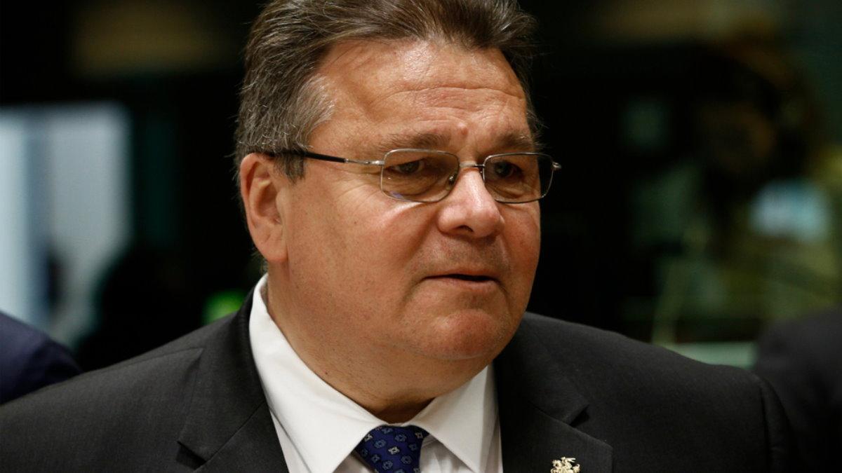 Министр иностранных дел Литвы Линас Линкявичюс - Linas Linkevicius один