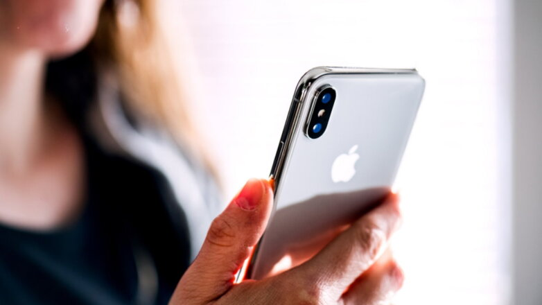 Apple iPhone X логотип светлый фон