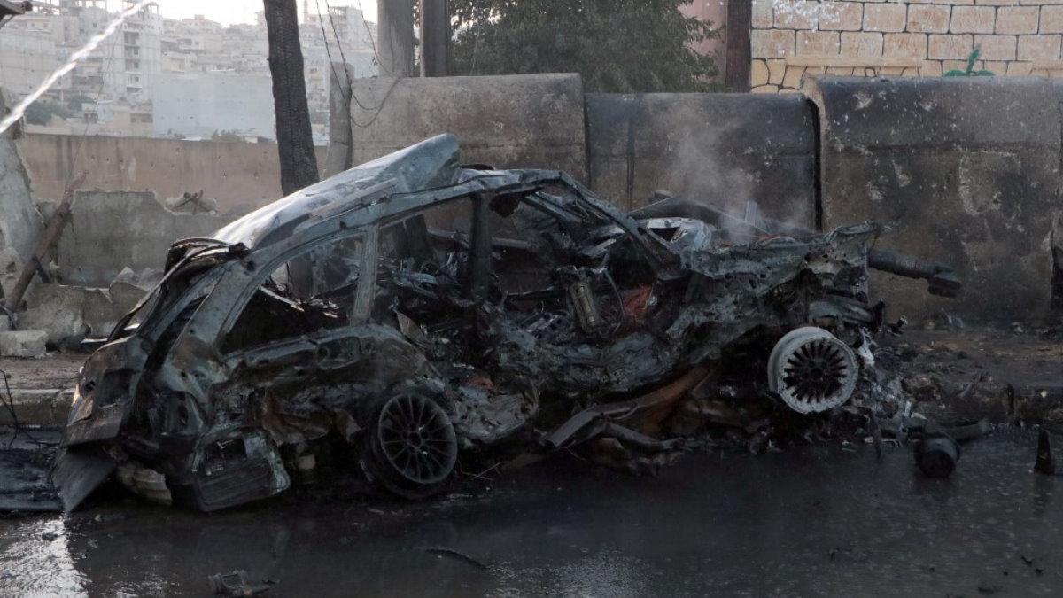 Сирия взорванная машина взрыв машины теракт