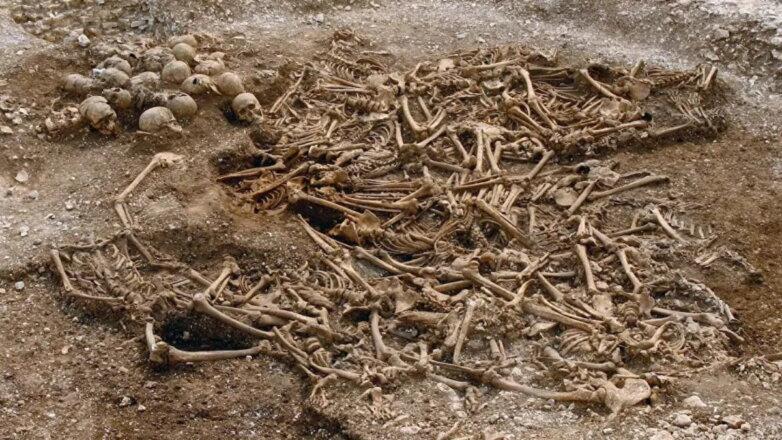 Братское захоронение викингов в графстве Дорсет Великобритания