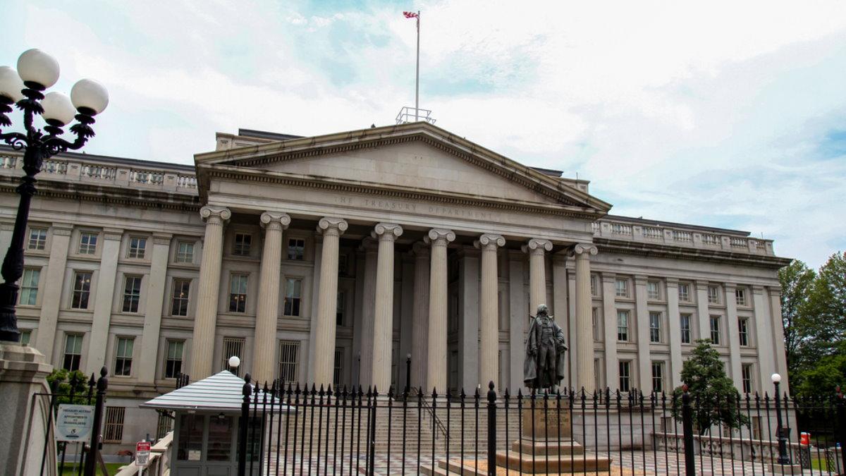 Здание Министерства Министерство финансов США три