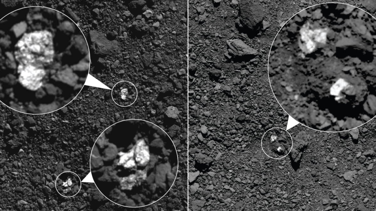 Кусочки другого астероида на поверхности Бенну
