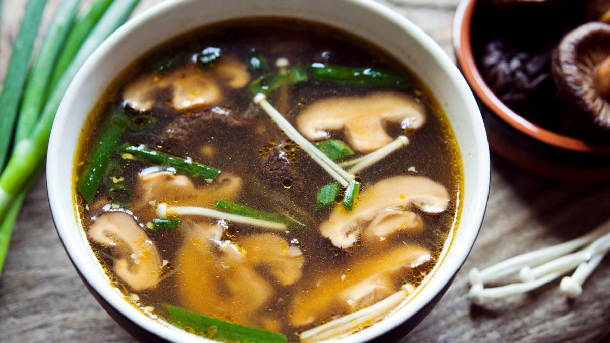 мисо суп из грибов шиитаке
