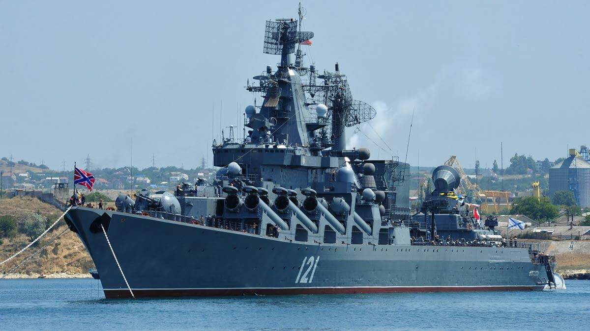 Начались первые учения флагмана Черноморского флота после ремонта