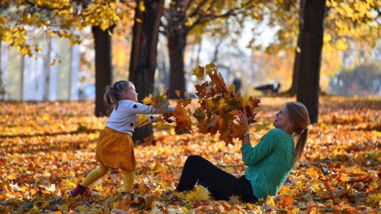 осень москва тепло бабье лето