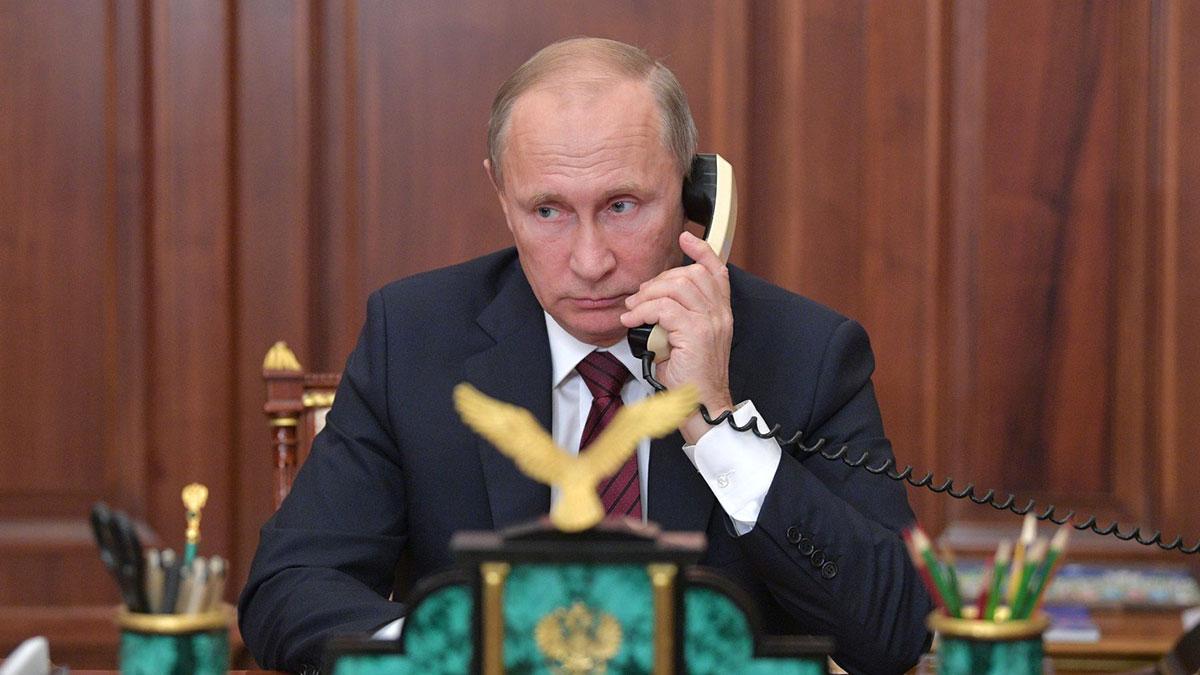 Владимир Путин телефонный разговор