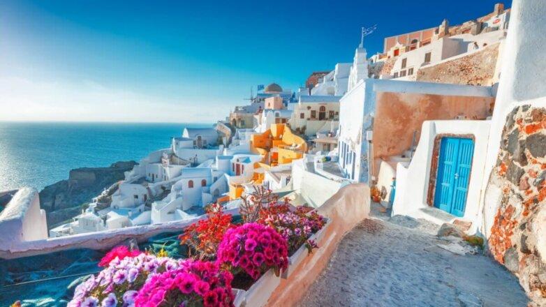 Греция туризм город Ия на острове Санторини