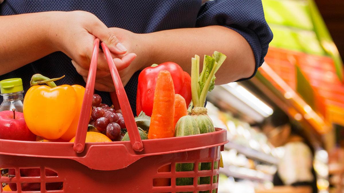 Продукты, овощи, корзина, магазин, покупки