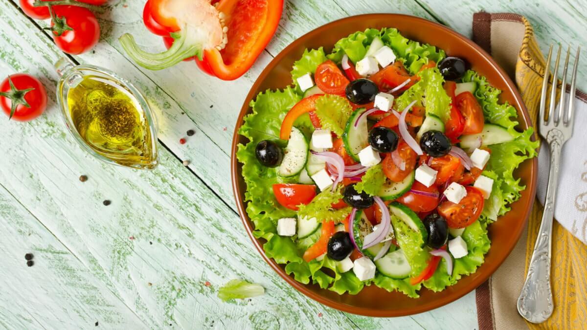 Греческий салат средиземноморская диета