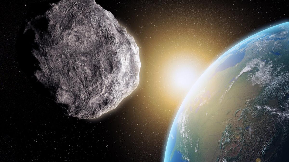 Планета Земля метеорит астероид три