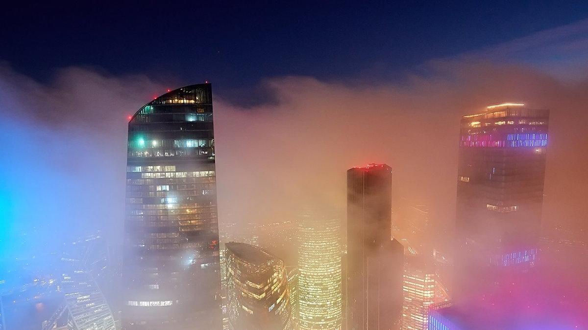Погода туман Москва-сити