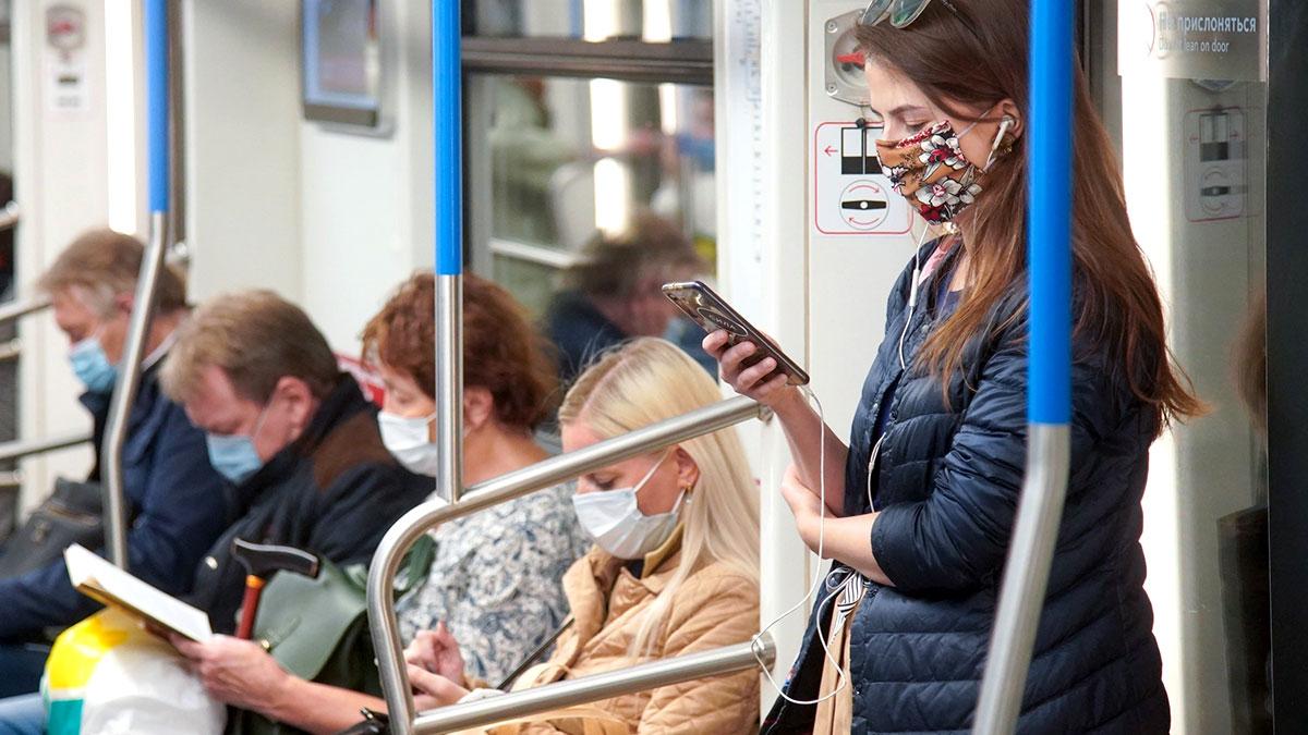 масочный режим в московском метро коронавирус covid-19