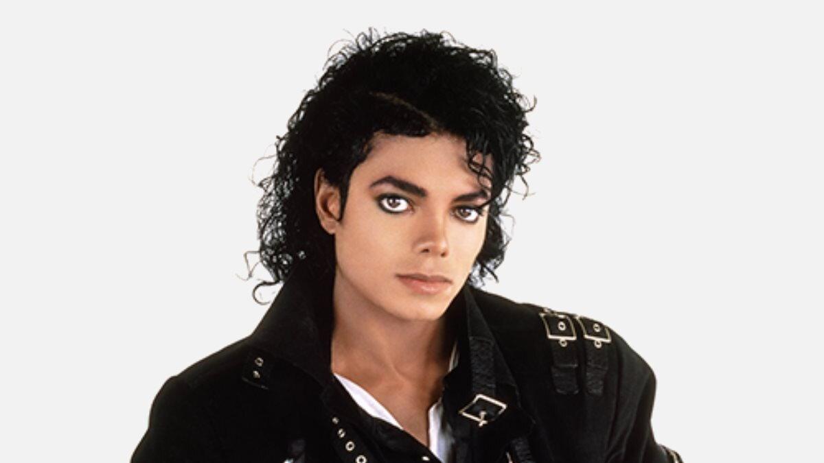 Певец Майкл Джексон - Michael Jackson белый фон
