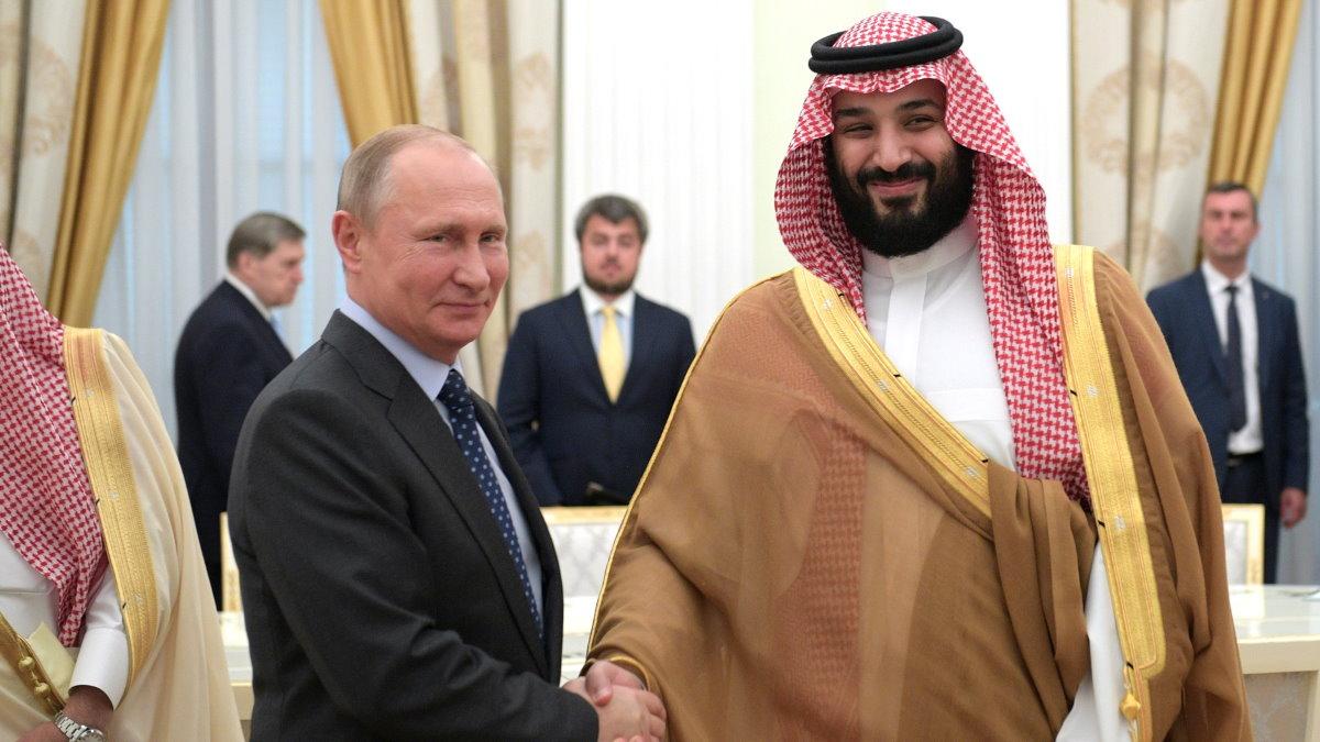 Владимир Путин и Наследный принц Саудовской Аравии Мухаммед Бен Сальман