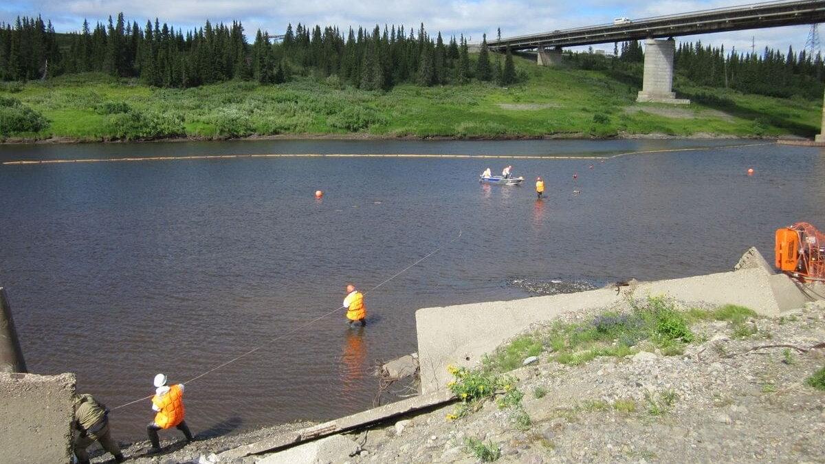 Загрязнение реки в Ненецком автономном округе
