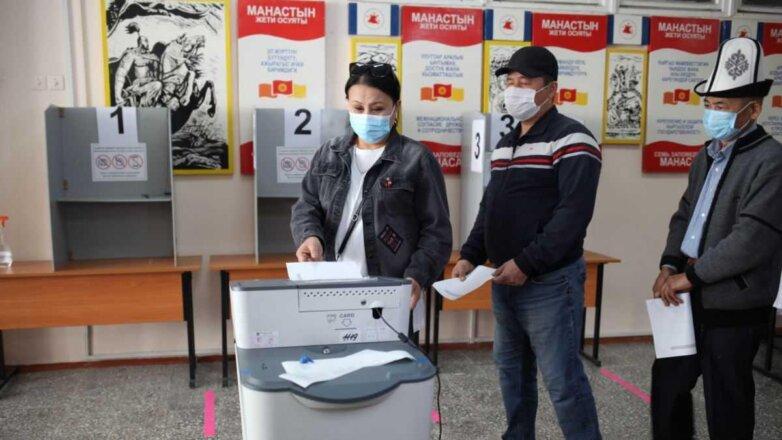 голосование на выборах в Киргизии