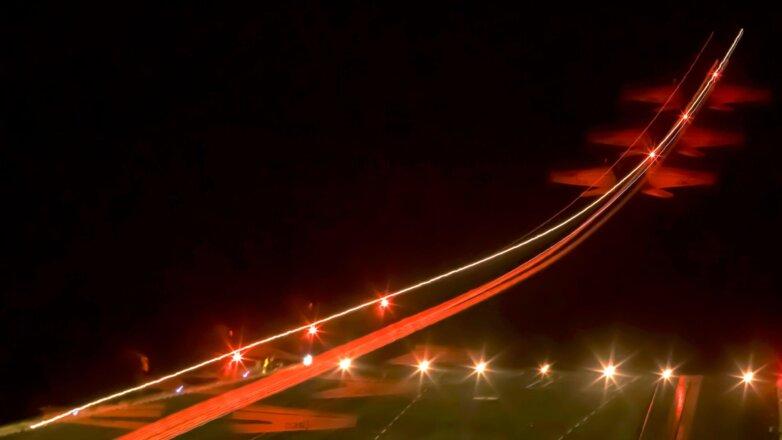 F / A-18F Super Hornet стартует с авианосца USS Gerald R. Ford (CVN-78)