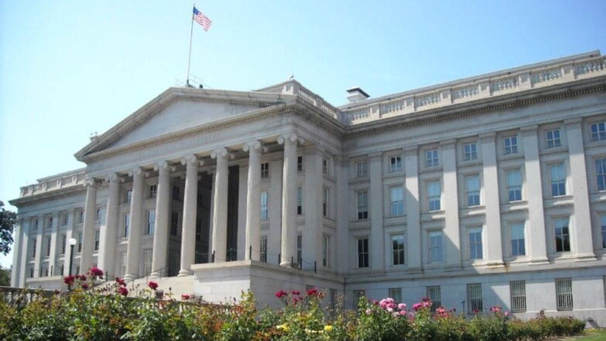 Здание Министерства Министерство финансов США четыре