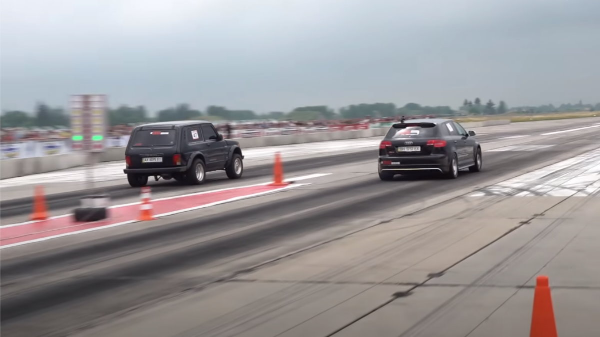 Lada Niva с двигателем LS обогнала Audi RS6