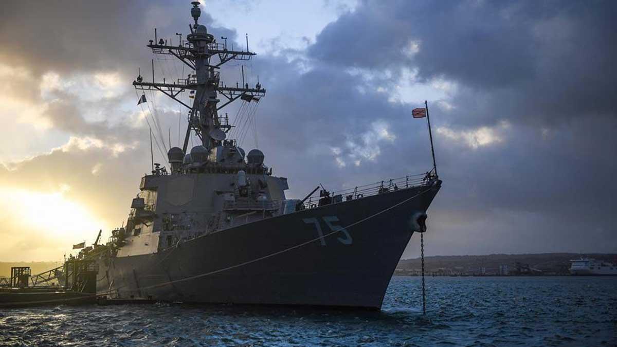 Американский эсминец Дональд Кук Us destroyer Donald cook