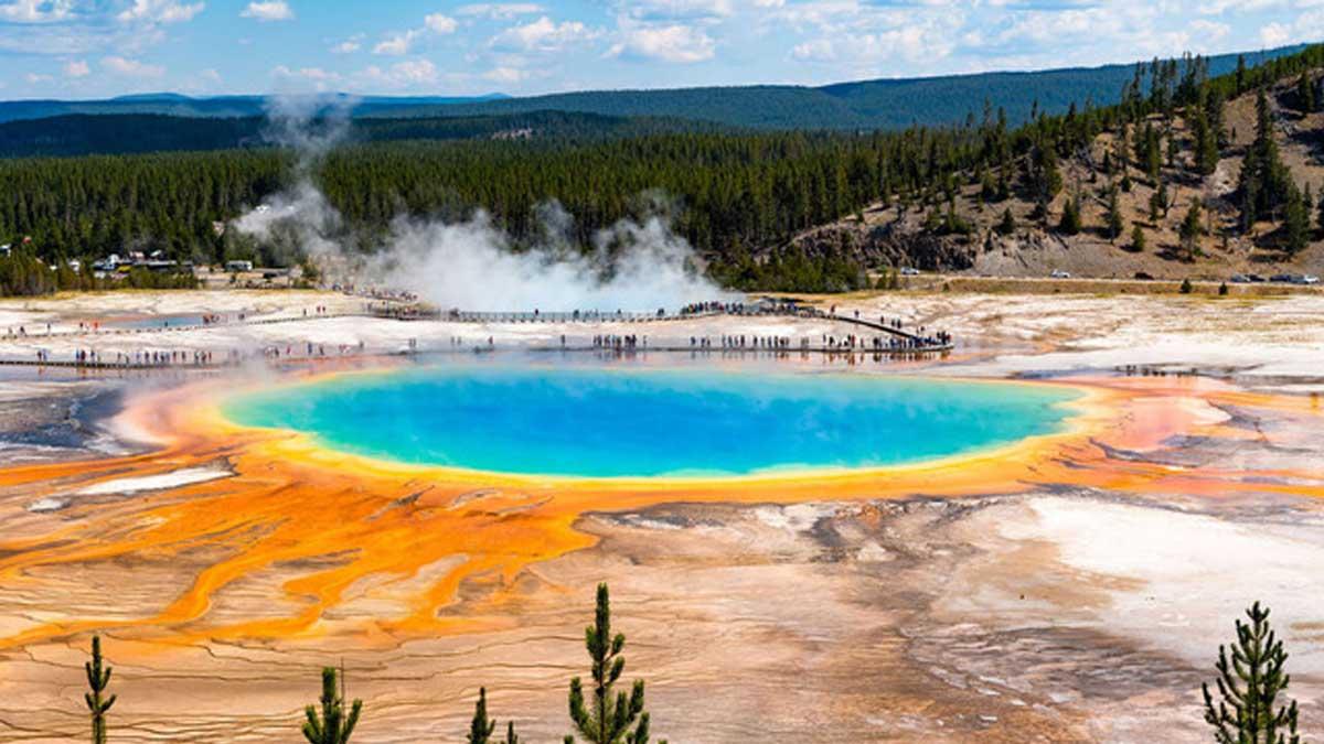 Йеллостоун вулкан Yellowstone volcano