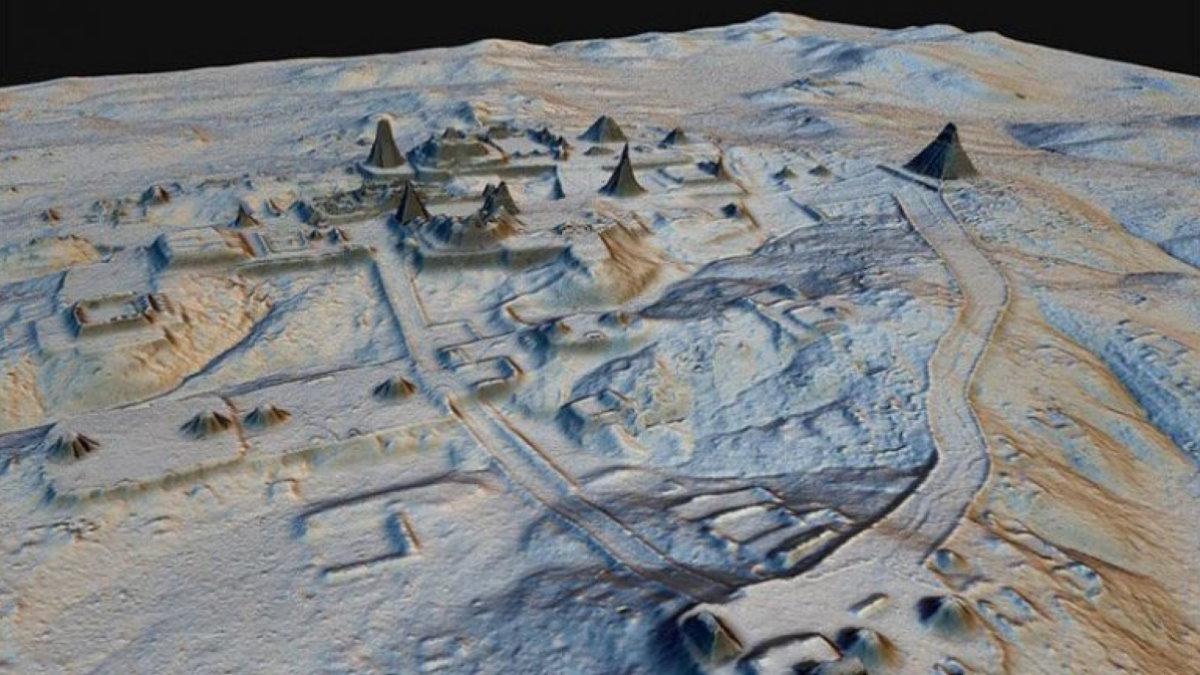 Лидарный снимок Майя LIDAR