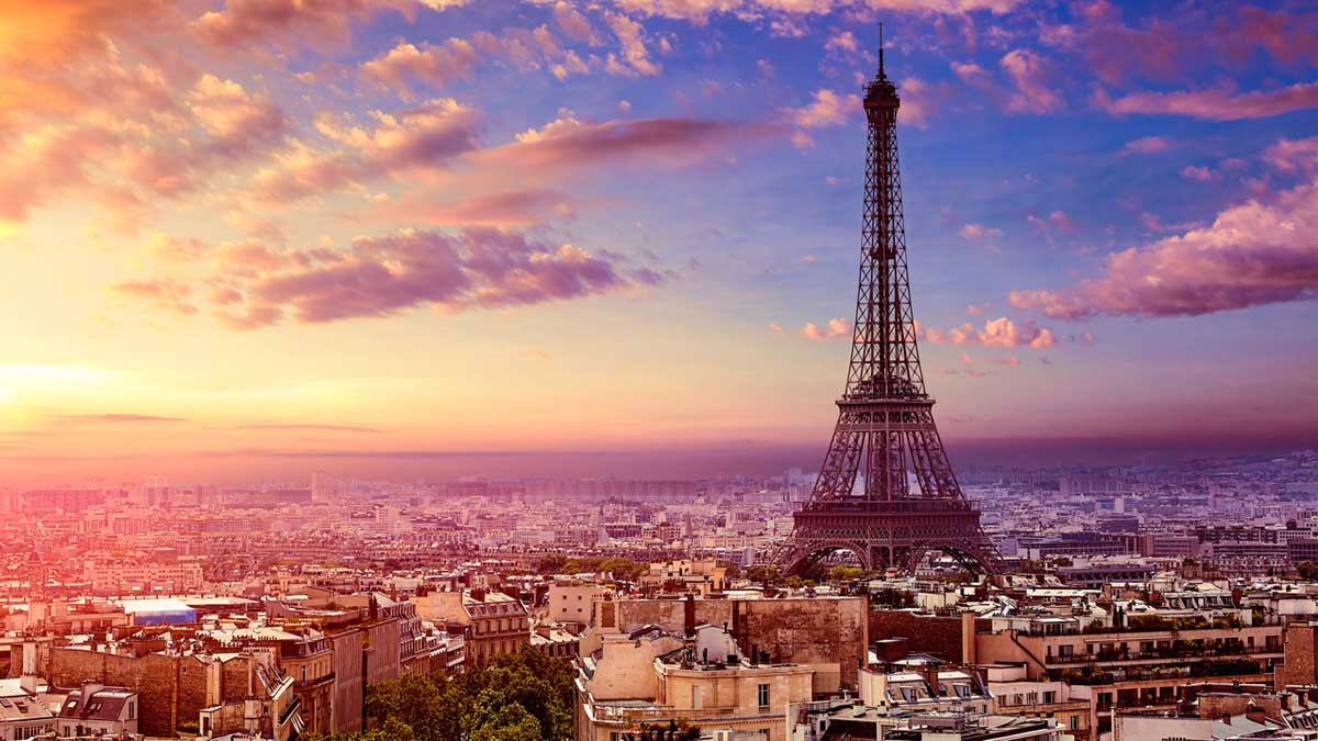 Париж рассвет Paris dawn