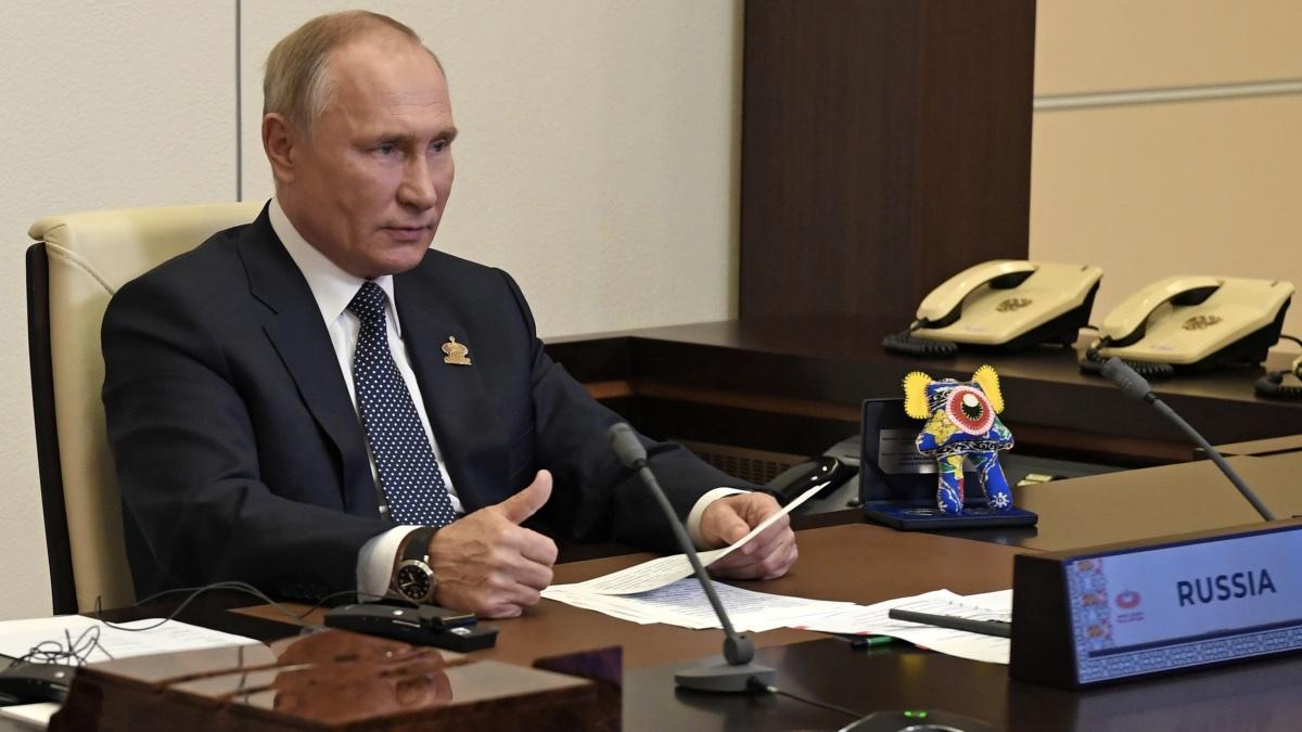 Путин: сокращение ВВП РФ  в 2020г.  составит неменее  3,9%